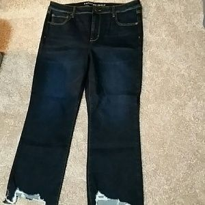 AE Brand high rise crop flare jean
